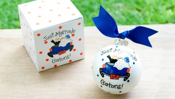 UF Just Married Ornament