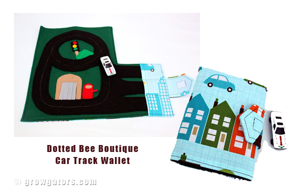 Race Car Track Wallet by Dotted Bee Boutique
