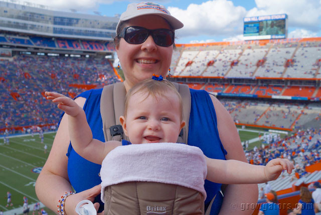 Tips on taking baby to the Swamp on gameday