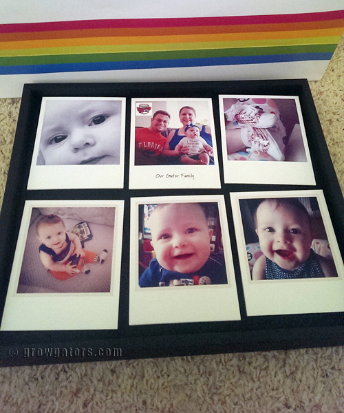 The Shadowboxes work with a magnet system. I just love this size! They have a larger option as well. Also available in orange and blue!""