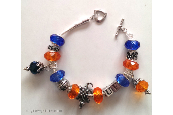 Tossed and Found Gator charm bracelet
