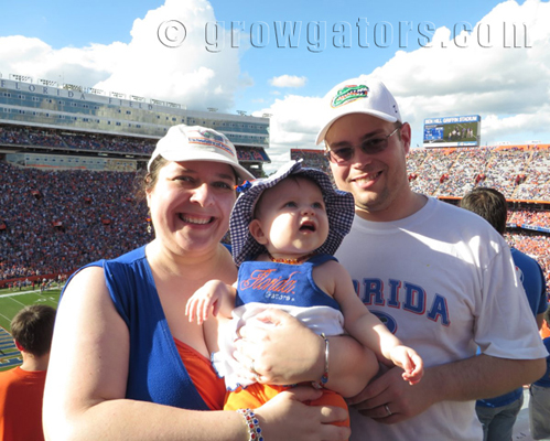 Lily's First Game at The Swamp