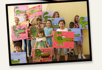 Kids show off their creations at The Scarlet Easel