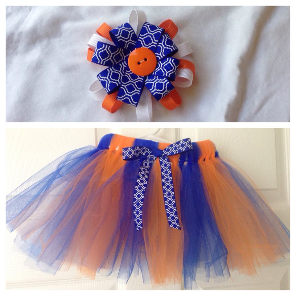 WIN This matching Orange and Blue set from Monkee Bowz!