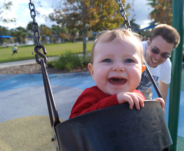 Lily's first swing ride. Pure joy :)