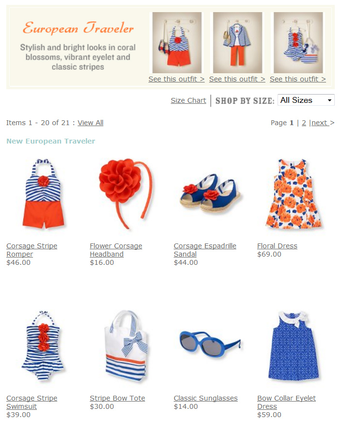 Orange and Blue European Traveler line at Janie and Jack