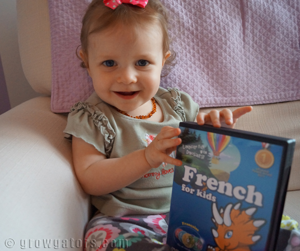 Starting French lessons at 14 months with Dino Lingo