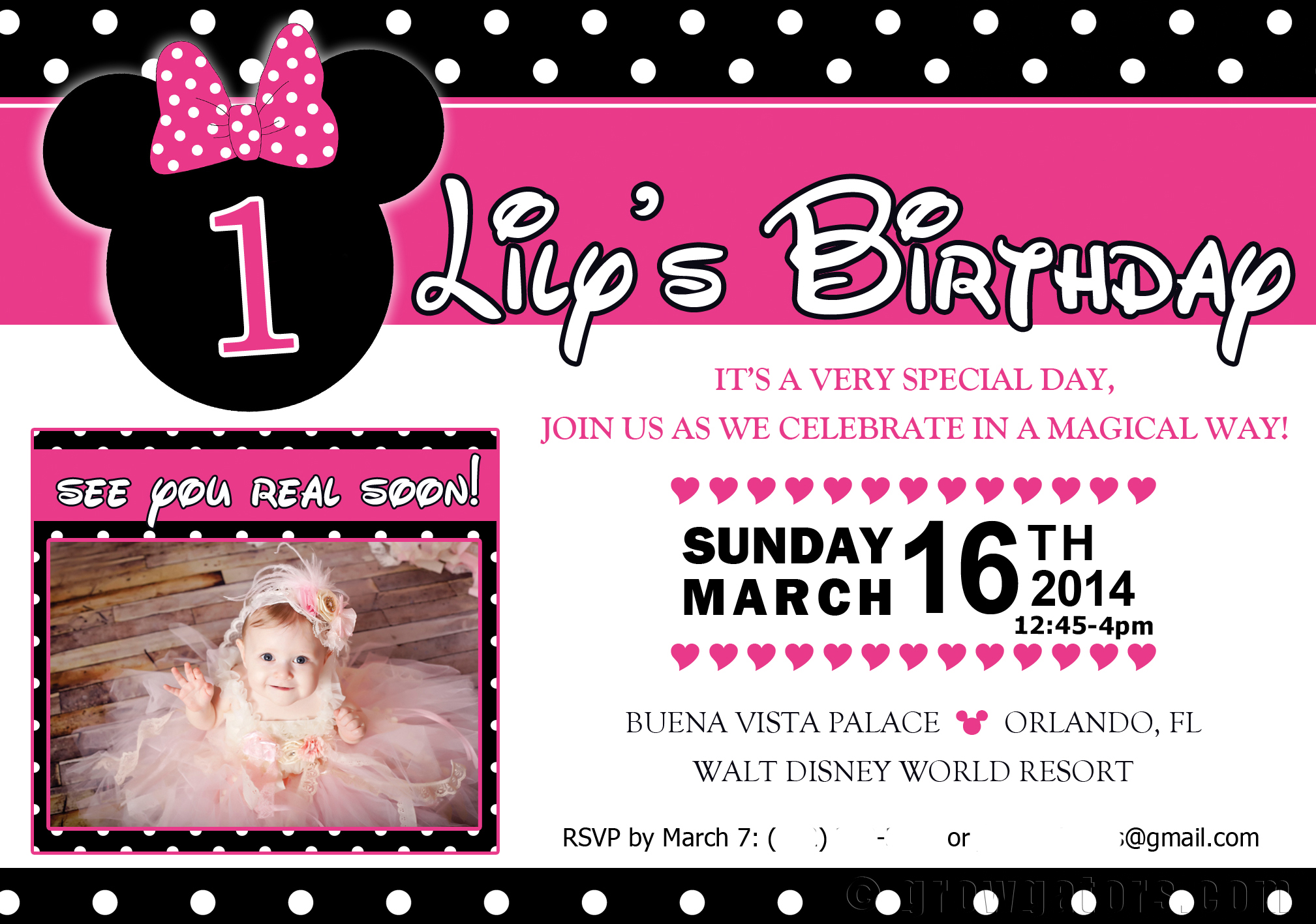 A Minnie Mouse 1st Birthday Party with a Twist – First Birthday Sayings for Invitations