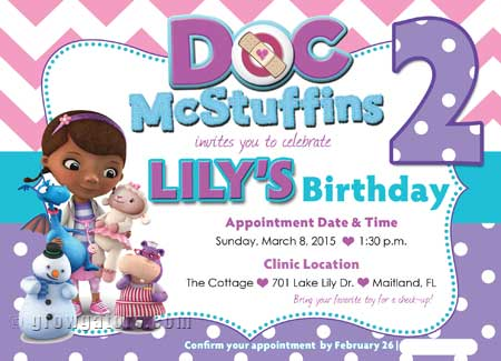 Doc Mcstuffins Party Invitation Photo