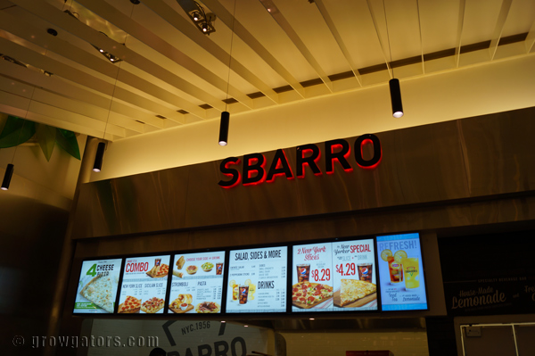 I love the clean, modern font choice of the new Sbarro logo.