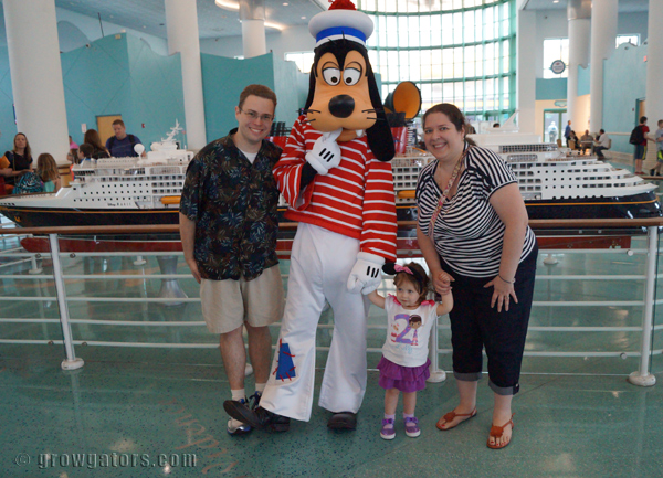 Ready to begin our Disney Cruise vacation!