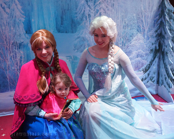 The Anna and Elsa meet and greet tickets go quickly.