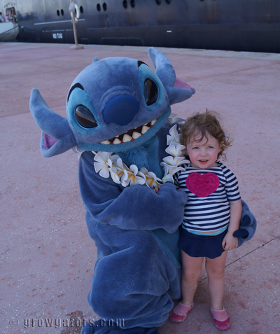 Stitch at Castaway Cay.