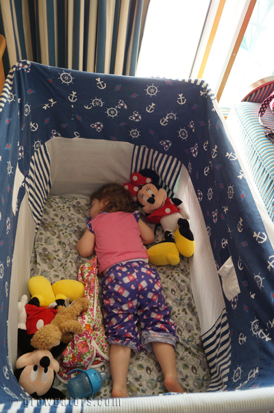 Someone slept soundly each night in her pack-n-play!